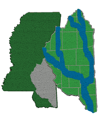 Map of the Pat Harrison Waterway District